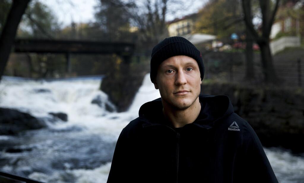 SKAL BLI BEST: Jack Hermansson fikk knapt en skramme i kampen mot amerikaneren Gerald Meerschaert. Nå er han klar for verdenstoppen. Foto: Henning Lillegård / Dagbladet