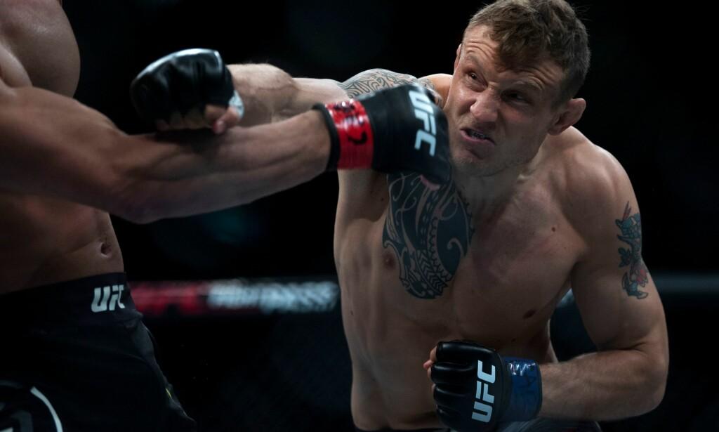 STRIKER: Hittil mener Jack Hermansson at han har vært best med slag. Nå nærmer han seg å bli den komplette MMA-fighter. Foto: NTB Scanpix
