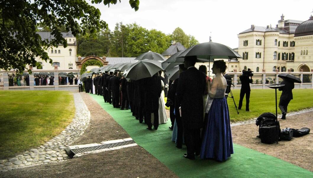 <strong>BRYLLUP:</strong> Dette bildet er fra Mille-Marie Treschow og Stein Erik Hagens bryllup i 2004. Foto: NTB Scanpix