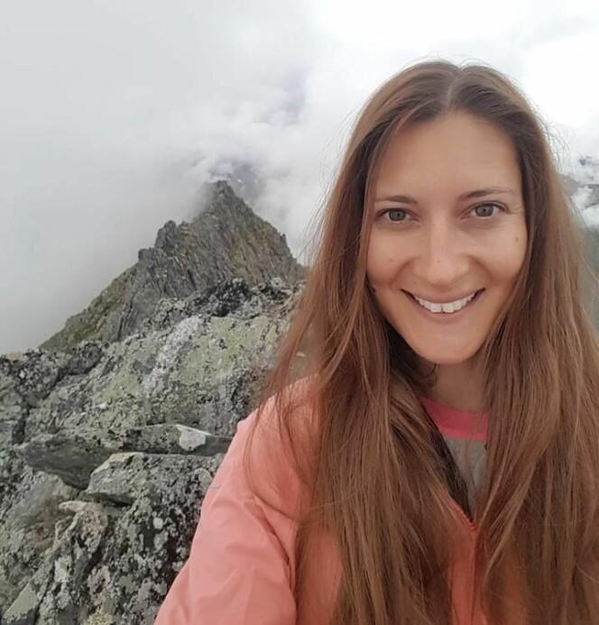 TOPPTUR: Brita Erica Duwe liker seg i høyden. FOTO: Privat