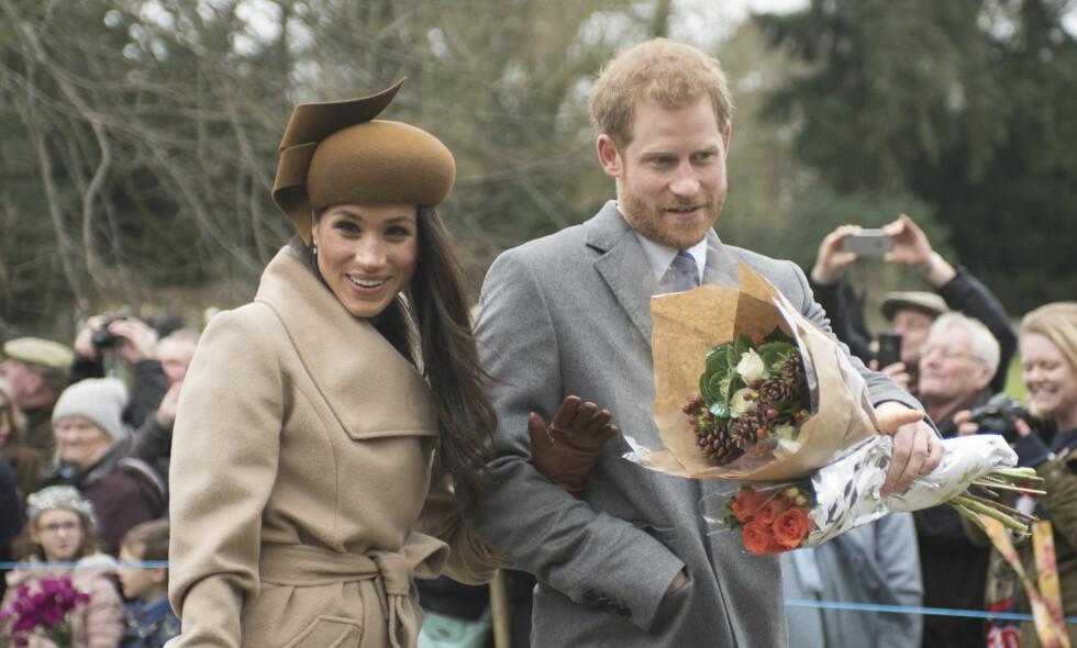 SPESIELLE TRADISJONER: Hertuginne Meghan fikk en forsmak på julefeiring som kongelig i fjor. I år må derimot hertuginnen gi en innføring til moren, Doria Ragland, som trolig skal ta del i feiringen for første gang. Foto: NTB Scanpix