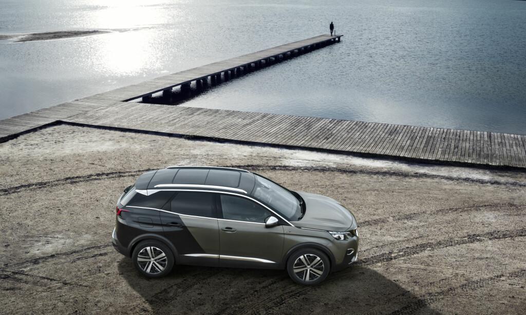 ELEKTRSIK: Nye Peugeot 2008 vil få samme designspråk som 3008, men vil også komme som elbil. Foto: Peugeot.