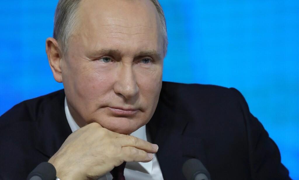 HELT SJEF: Den russiske presidenten Vladimir Putin fra torsdagens pressekonferanse. Foto: AFP / NTB Scanpix