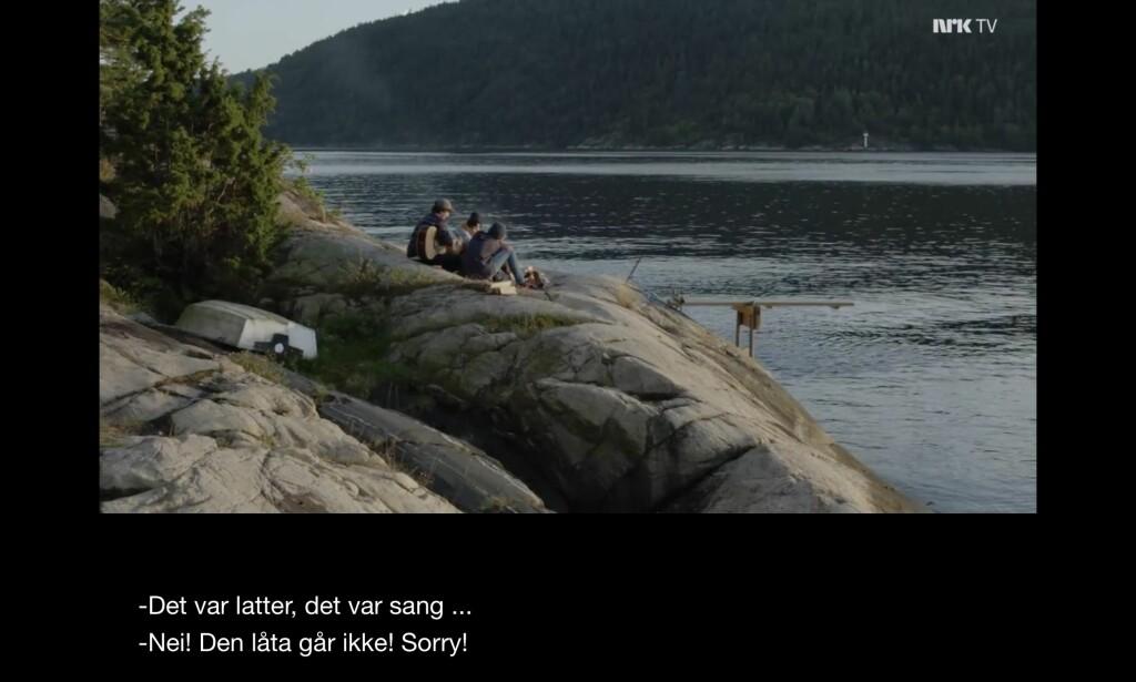 """Burde i det minste tatt den der """"Jeg sitter nedpå berget"""". Foto: NRK"""