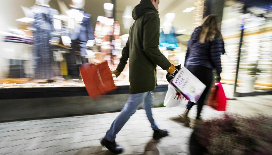 <strong>HANDLEDAG NUMMER ÉN:</strong> Fredag 21. desember blir den dagen vi handler julegaver for størst sum, ifølge Virke. Foto: Gorm Kallestad/NTB Scanpix.