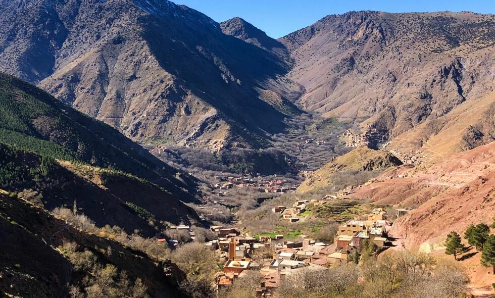 IMLIL: De to kvinnene ble drept da de var på vei ned fra fjellet Toubkal og skulle tilbake til landsbyen Imlil i Marokko. Foto: John Terje Pedersen / Dagbladet
