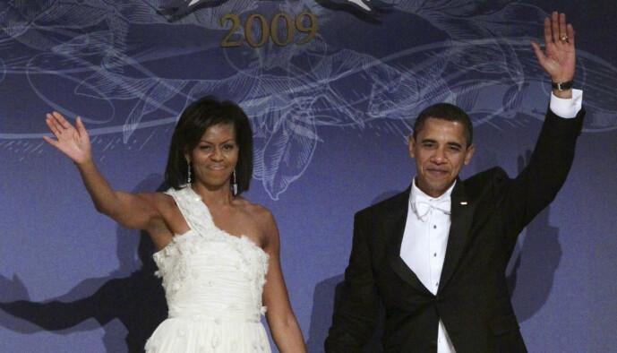 <strong>EKTEPAR:</strong> Barack og Michelle Obama var presidentpar fra 2009 til 2017. Foto: NTB Scanpix