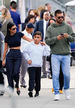 GODT FORHOLD: Mason er sønnen til Kourtney og Scott Disick. Eksparet har også datteren Penelope og sønnen Reign sammen. Foto: NTB Scanpix