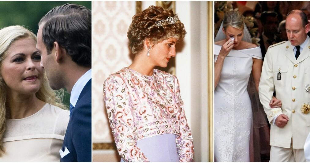 SKANDALER: Blant andre prinsesse Madeleine, prinsesse Diana og fyrst Albert har vært involvert i kongelige skandaler i årenes løp. Foto: NTB Scanpix