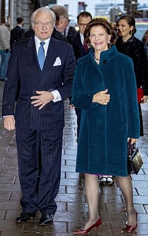 BURSDAGSBARNET: Dronningen ankom feiringen sammen med kong Carl Gustaf. Foto: NTB Scanpix