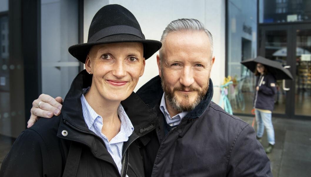 VED GODT MOT: Bente og Geir Magne Haukås prøver å ikke fokusere på kreftsykdommen, så langt det lar seg gjøre. Foto: Lars Eivind Bones / Dagbladet