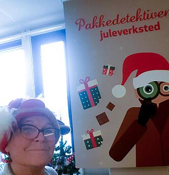 <strong>JULEMYSTERIET:</strong> Åse Lerfald har løst de fleste julenøttene, men kom dessverre ikke helt i mål. Foto: Privat