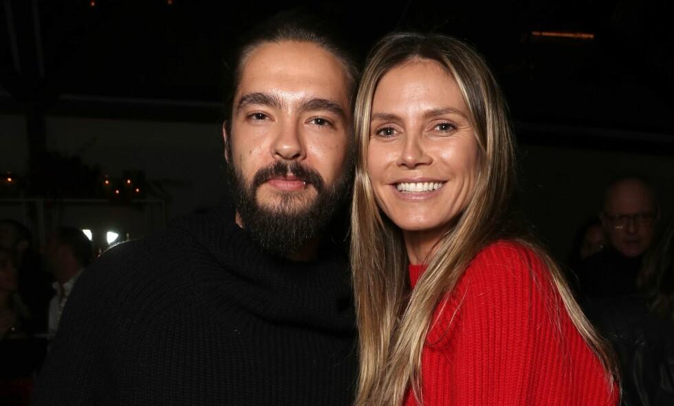 FORLOVET: Supermodellen Heidi Klum og gitaristen Tom Kaulitz forlovet seg på selveste julaften. Foto: NTB Scanpix