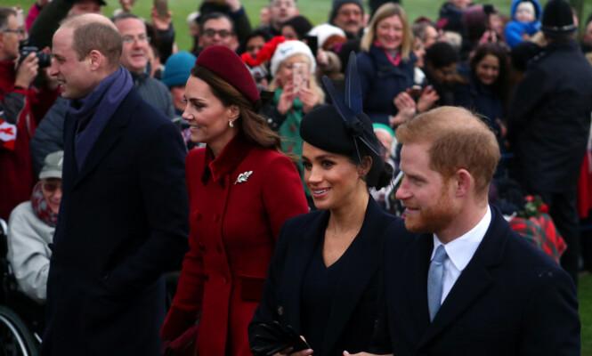 MED MENNENE: Det er neppe tilfeldig at hertuginnene gikk ved siden av hverandre. Foto: NTB scanpix