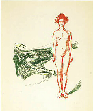 """SAVNET: Ingen vet hvor grafikkverket """"Marats død"""" av Edvard Munch er. Det har registreringsnummer RES.B.136. Foto: munchmuseet"""