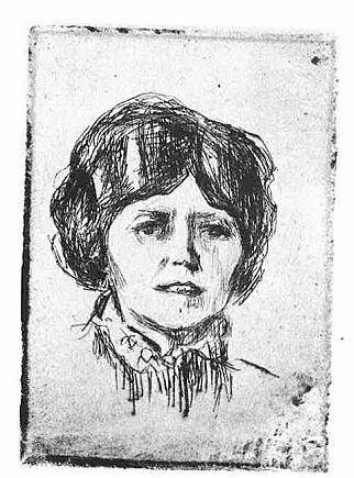 """SAVNET: """"Portrett av Fru R."""" av Edvard Munch er et av bildene som fortsatt er borte. Det skal ha forsvunnet fra rom 3139 på Sogn studentby. Registreringsnummer RES.B.121. Foto: Munchmuseet"""