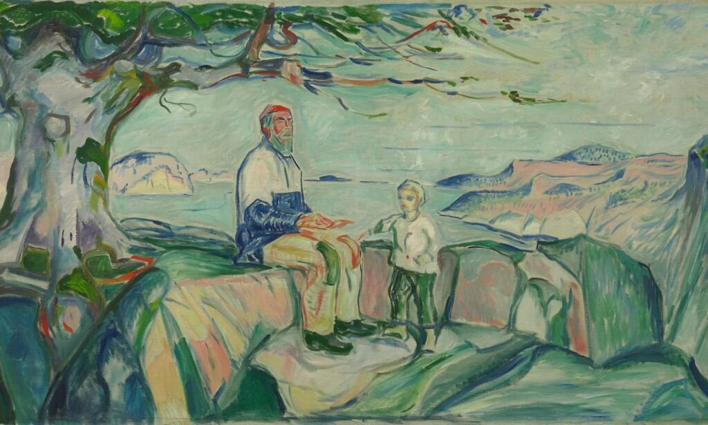BLE STJÅLET: Maleriet «Historien» av Edvard Munch ble stjålet i 1973. Det kom til rette året etter på noe utradisjonelt vis. Foto: Munchmuseet