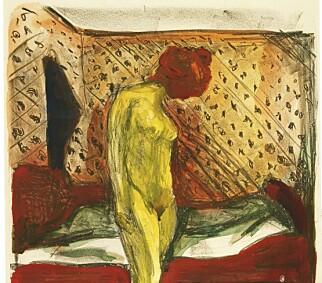 """SAVNET: """"Gråtende ung kvinne ved sengen"""" skal ha blitt skåret ut av rammen og stjålet, ifølge Studentsamskipnaden i 1966. Registreringsnummer RES.B64. Foto: Munchmuseet"""