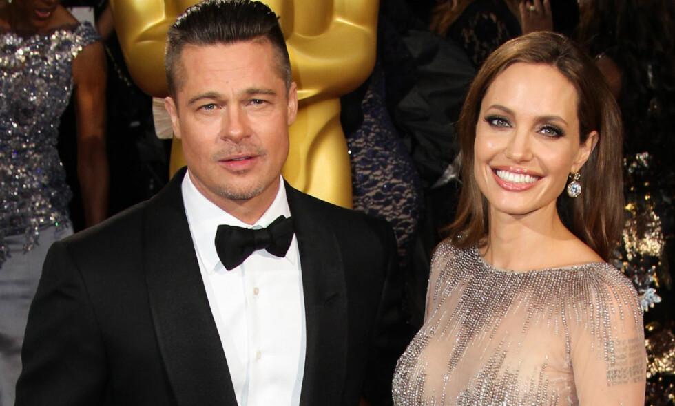 ÅPEN OM SKILSMISSEN: Brad Pitt og Angelina Jolie skilte seg i 2016. Siden den gang har de begge åpnet opp om den tøffe tiden. Foto: NTB Scanpix