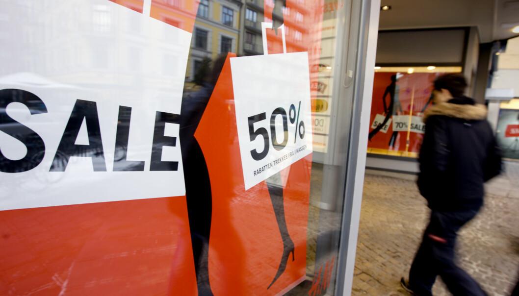 <strong>ROMJULSSALG:</strong> Denne uken kan du gjøre gode kupp i butikkene. Foto: Kyrre Lien/Scanpix