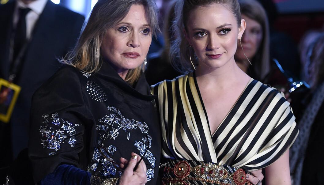 SORG: Det har nå gått to år siden «Star Wars»-stjernen Carrie Fisher døde. Nå kommer hennes datter med en rørende hyllest til moren. Foto: NTB scanpix