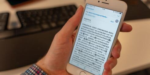 Derfor ser du kinesiske tegn i Mail-appen på iPhone