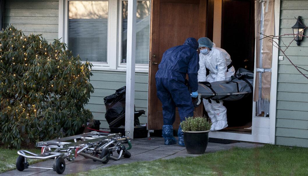 <strong>DRAP:</strong> Det er nå bekreftet at sønnen (27) tok livet av faren sin (55) i Sandnes. Han meldte selv fra om dødsfallet. Foto: Carina Johansen / NTB Scanpix