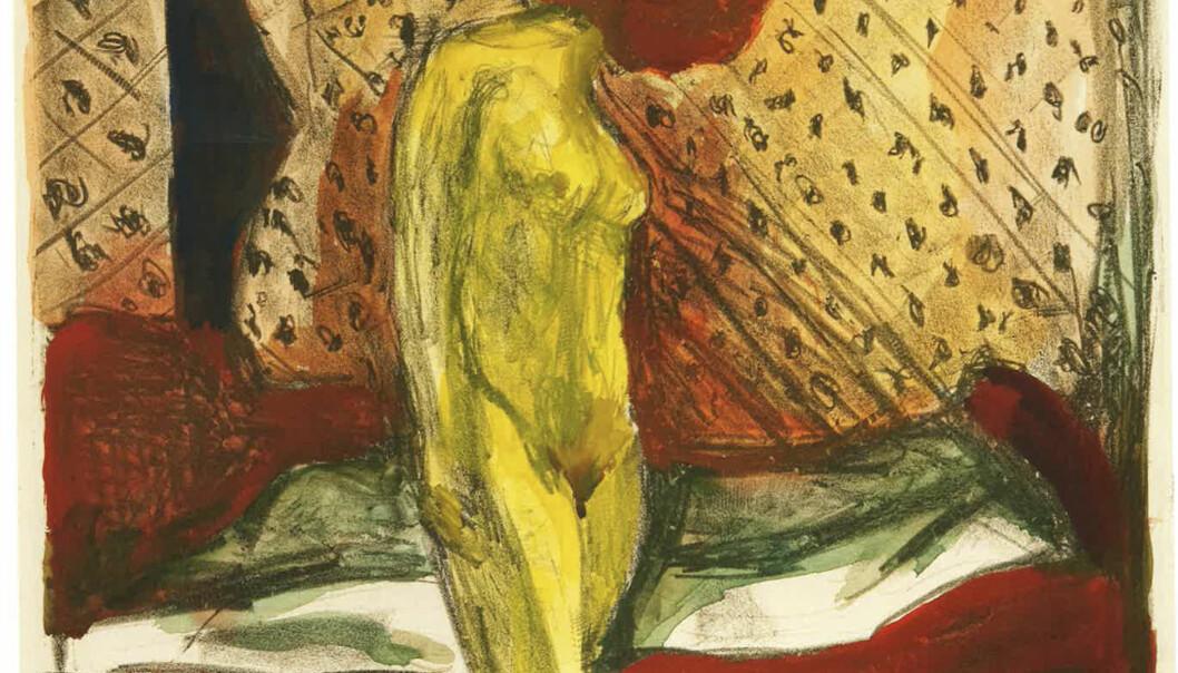 <strong>BORTE:</strong> Edvard Munchs «Gråtende ung kvinne ved sengen» er et av bildene som er savnet fra Stenersen-samlingen. Det skal ha blitt skåret ut av rammen og stjålet en gang på sekstitallet. Foto: Munchmuseet