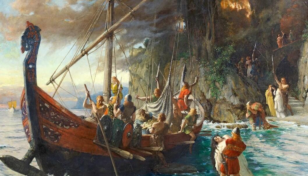 <strong>NESTEN FREMME:</strong> Etter mange ukers seilas nådde vikingene omsider noe som lignet veldig på Roma. Maleri av Ferdinand Leeke/Wikimedia Commons