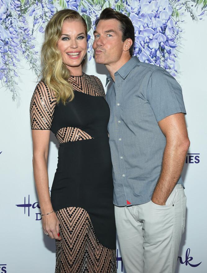 GIFT: Jerry O'Connell er gift med Rebecca Romijn. I den kommende filmen «The Secret» spiller Jerry O'Connell og Katie Holmes forloveder. Foto: NTB Scanpix