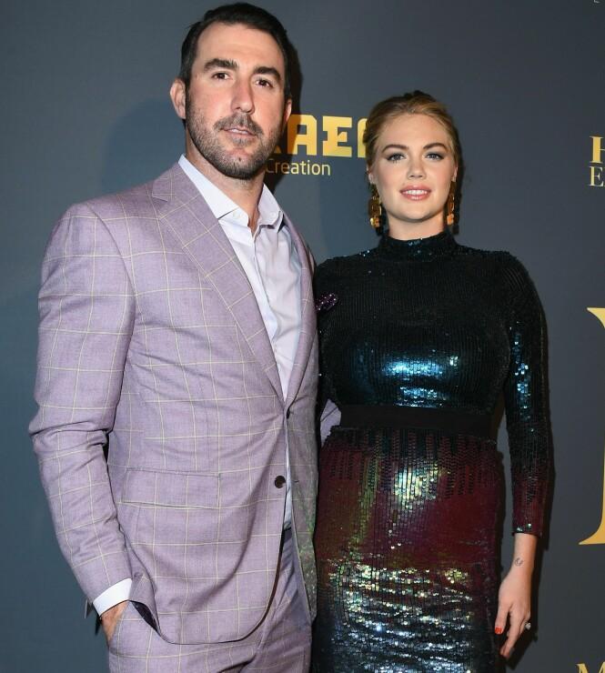 BLE FORELDRE: Kate og Justin fikk sitt første barn sammen for en drøy måned siden. De to turtelduene har vært et par siden 2014. Foto: NTB Scanpix