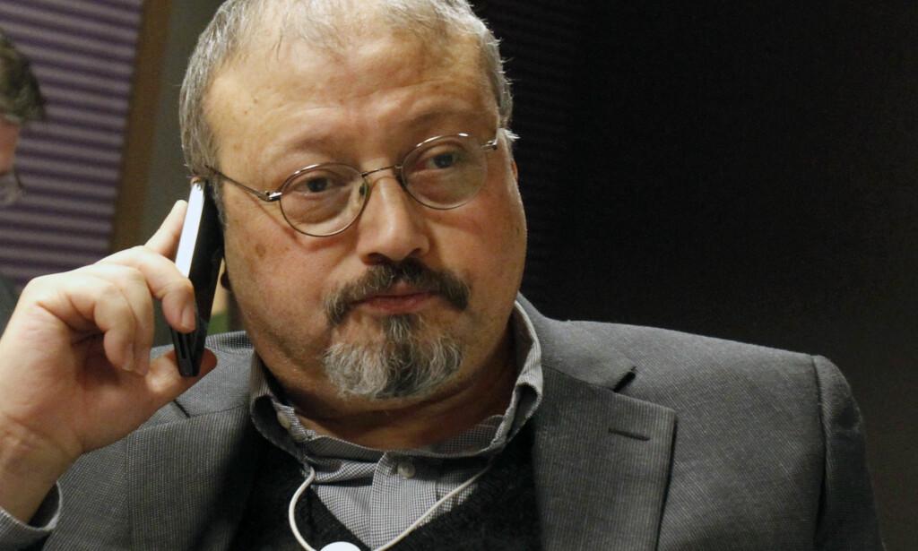 DREPT: Den anerkjente regimekritiske saudiarabiske journalisten Jamal Khashoggi ble drept i Saudi-Arabias konsulat i Istanbul i oktober. Levningene etter ham er fortsatt ikke funnet. Foto: AP Photo/Virginia Mayo/NTB Scanpix
