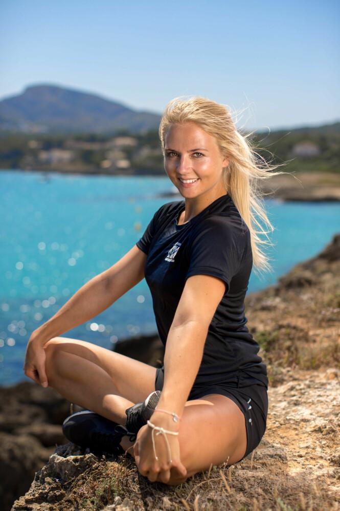 LA OM LIVSSTILEN: Tidligere cheerleader Kine Olsen Vedelden. Foto: NRK