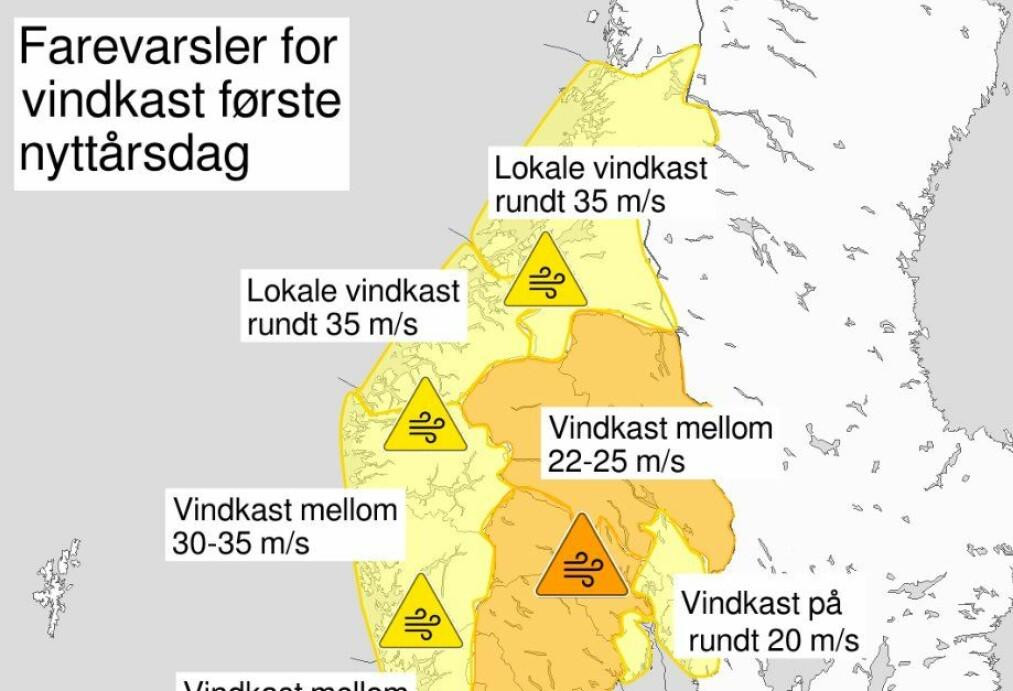 Nå kommer nyttårsuværet: - Det treffer hele Sør-Norge