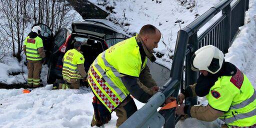 image: - Kjørte av veien og fløy sju meter
