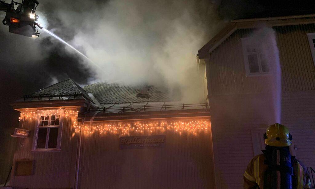 image: Full fyr i bygning - 13 personer evakuert