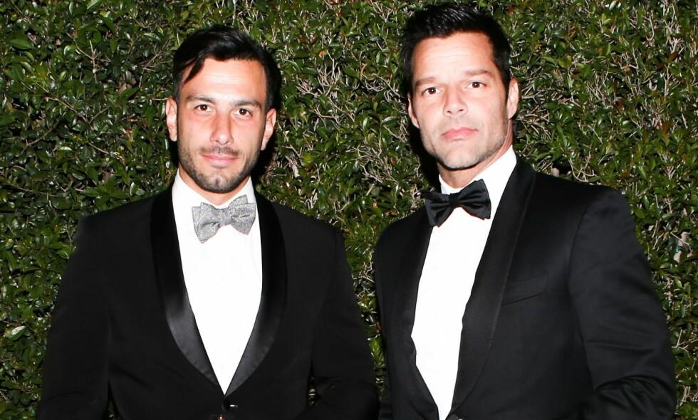 BLE FORELDRE: Ricky Martin og ektemannen Jwan Yosef fikk nylig en datter sammen. Foto: NTB Scanpix