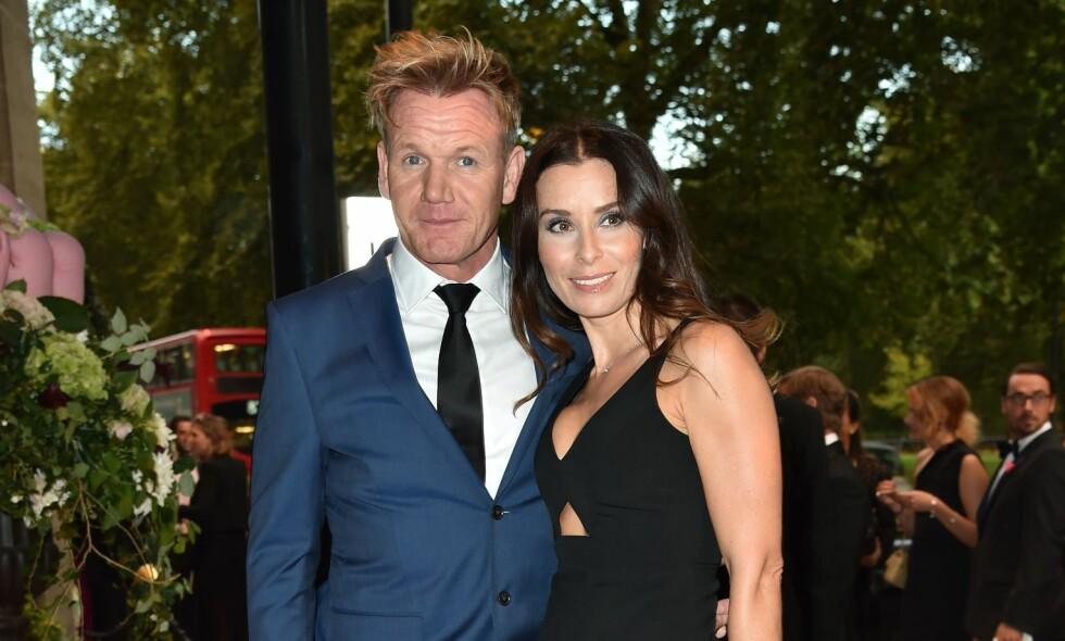 GRAVID: Gordon Ramsay og kona Tana Ramsay blir snart foreldre for femte gang. Foto: NTB Scanpix