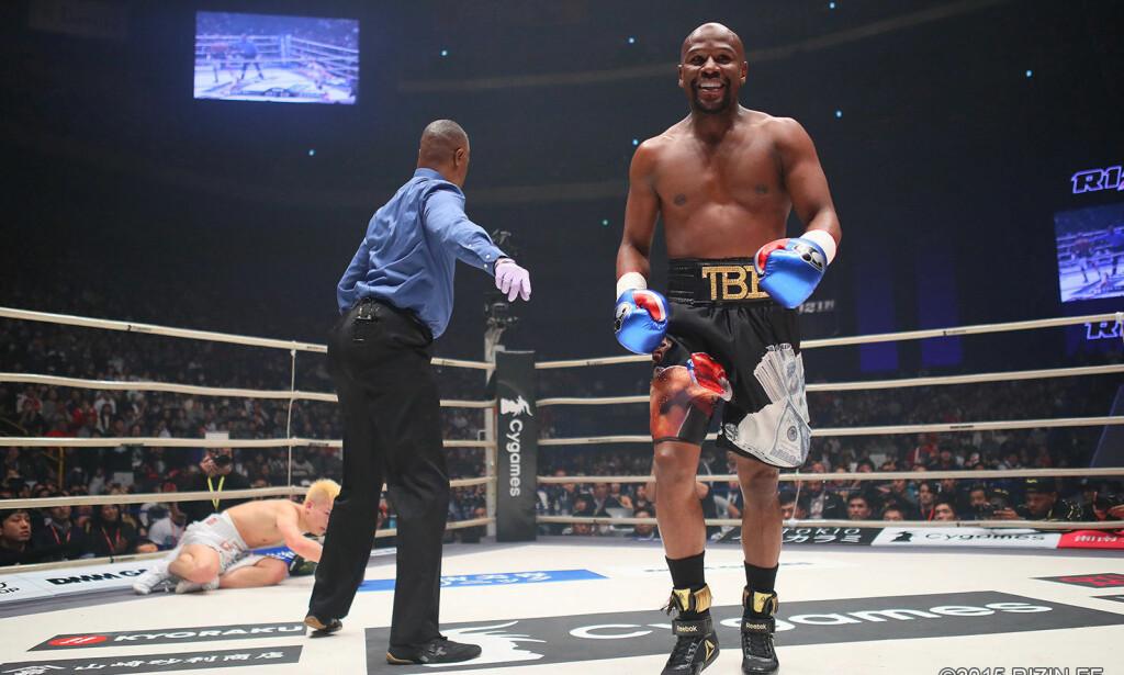 BLID: Floyd Mayweather kan glise for seier og nye penger på konto. Foto: Rizin Fighting Federation/Reuters