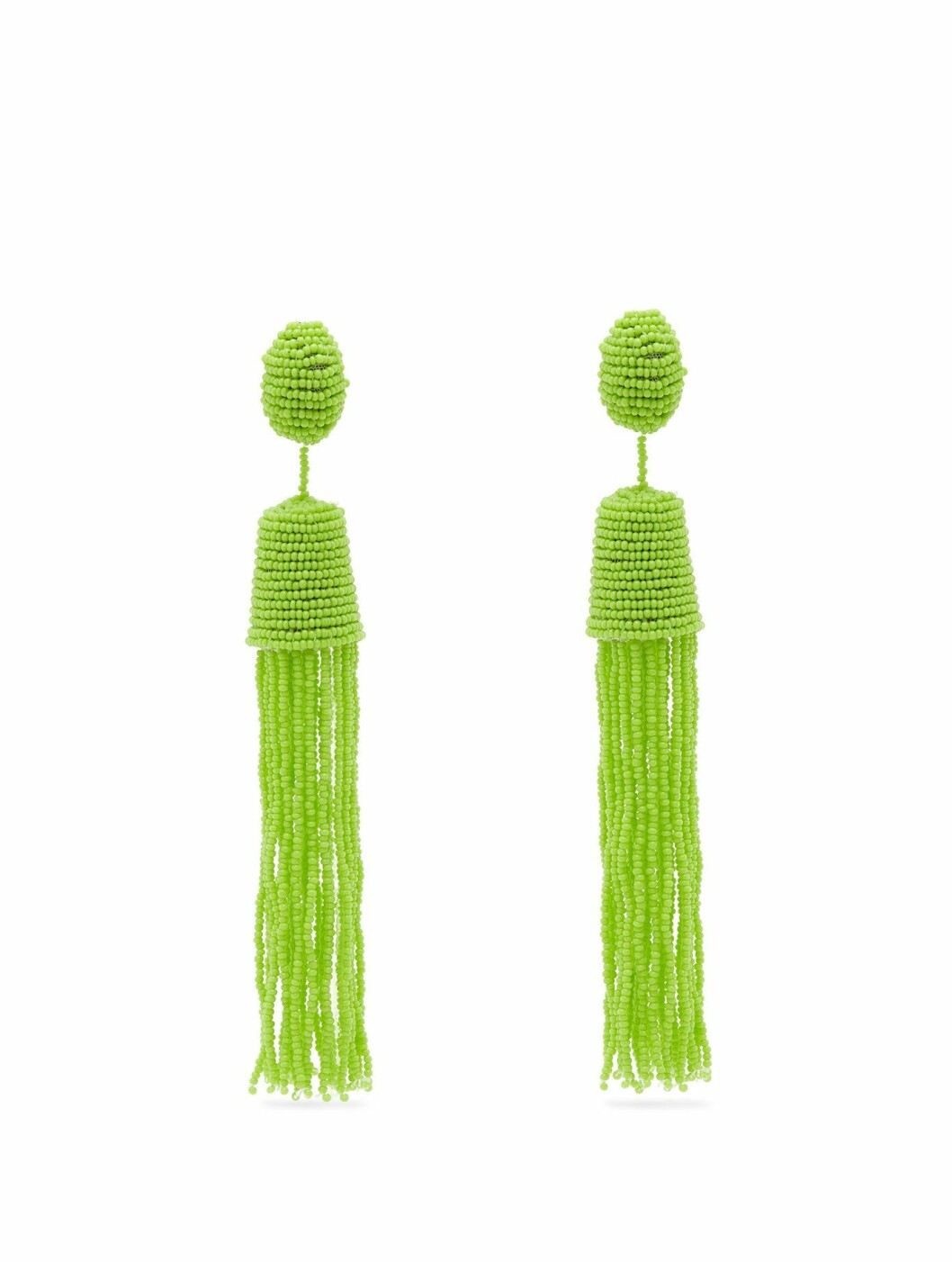 Øredobber fra Vanda Jacintho |910,-| https://www.matchesfashion.com/intl/products/Vanda-Jacintho-Bead-tassel-drop-earrings-1219138