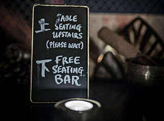 WALK IN: Det er en såkalt walk-in bar i første etasje og restaurant i andre, med vanlig bordbestilling.