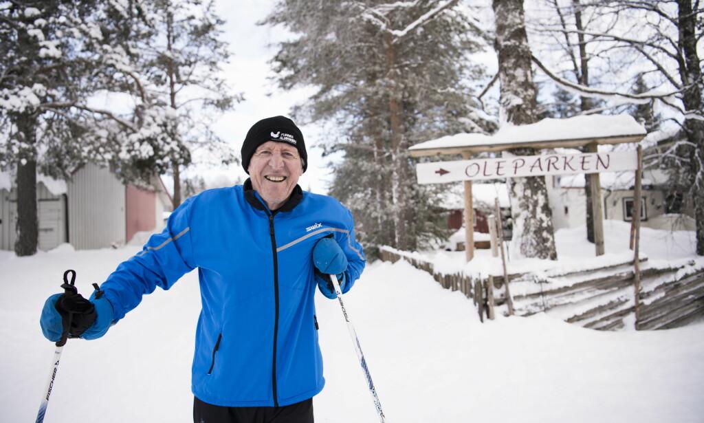 EGEN TEORI: Langrennslegende Ole Ellefsæter har sin egen teori om effekten i Klæbo-klyvet. Foto: Lars Eivind Bones / Dagbladet