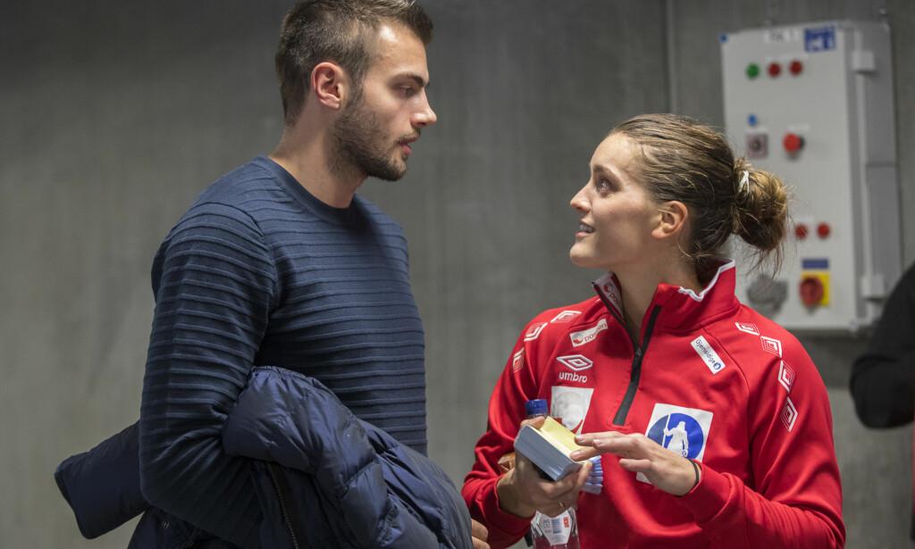 BLIR FORELDRE: Eivind Tangen og Stine Skogrand blir foreldre for første gang til sommeren. Foto: NTB Scanpix