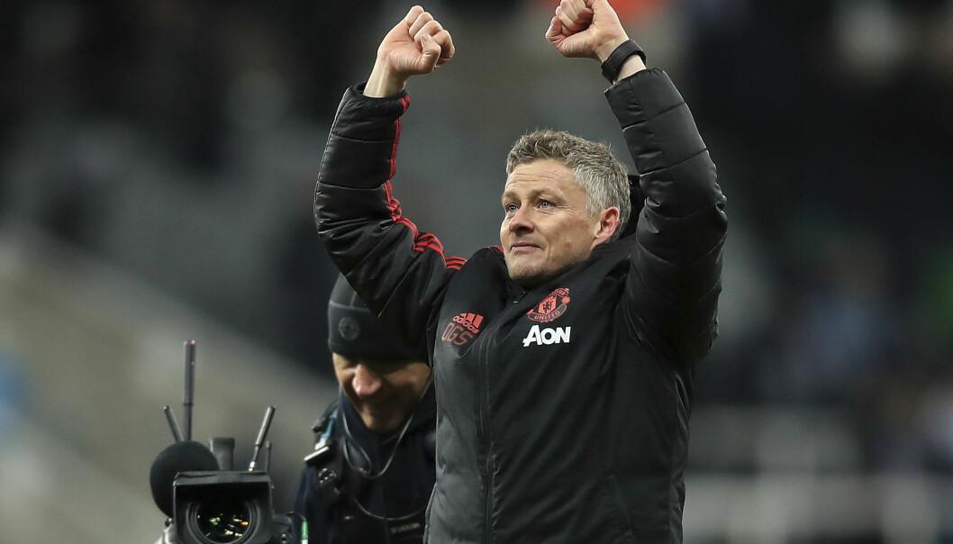 HELTESTATUS: Ole Gunnar Solskjærs Manchester United-eventyr fortsatte onsdag, da han vant sin fjerde kamp som manager. Foto: NTB Scanpix