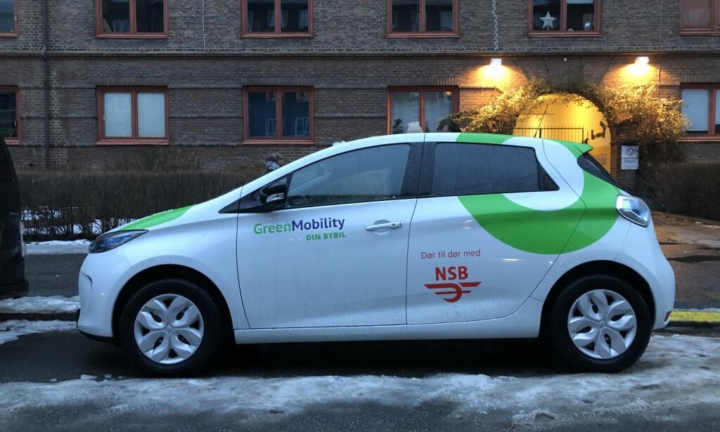 LITEN TASS: NSB bruker Renault Zoe til tjenesten. Foto: Fred Magne Skillebæk