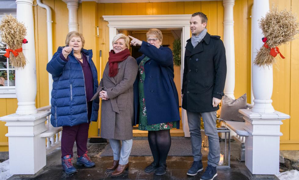 FORHANDLER: Regjeringsforhandlingene er i gang. Ingen av partiene har råd til å gå på et nederlag, skriver Tuftebarten. Foto: Lars Eivind Bones