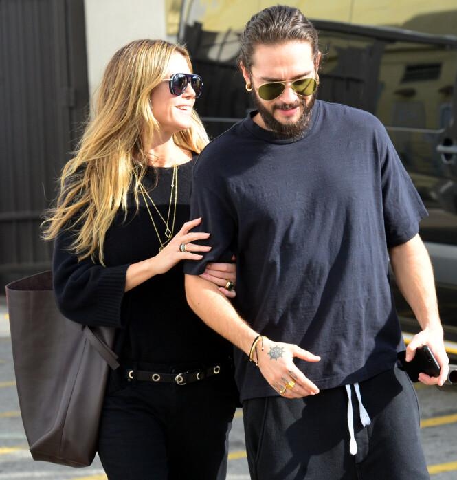 <strong>LYKKELIGE:</strong> Supermodell Heidi Klum hadde allerede funnet lykken med Tom Kaulitz før Drake ba henne ut på en date. Foto: NTB scanpix