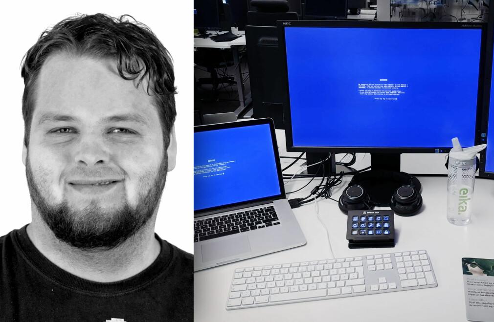 Ukas Koder Nicolai Naglestad forteller hvordan det er å jobbe i Eika Gruppen. 📸: Privat