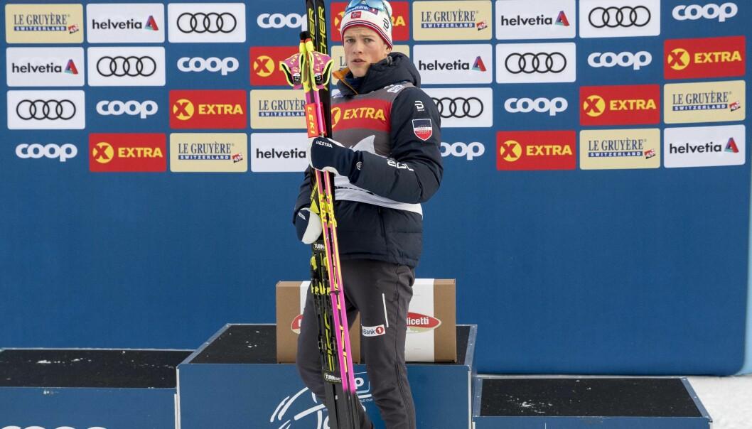 STERK FORM; Johannes Høsflot Klæbo har vist seg sterkere enn før i år under Tour de Ski og bør nå få velge hva han ønsker å gå, sier NRK-ekspert. Foto: Terje Pedersen / NTB scanpix