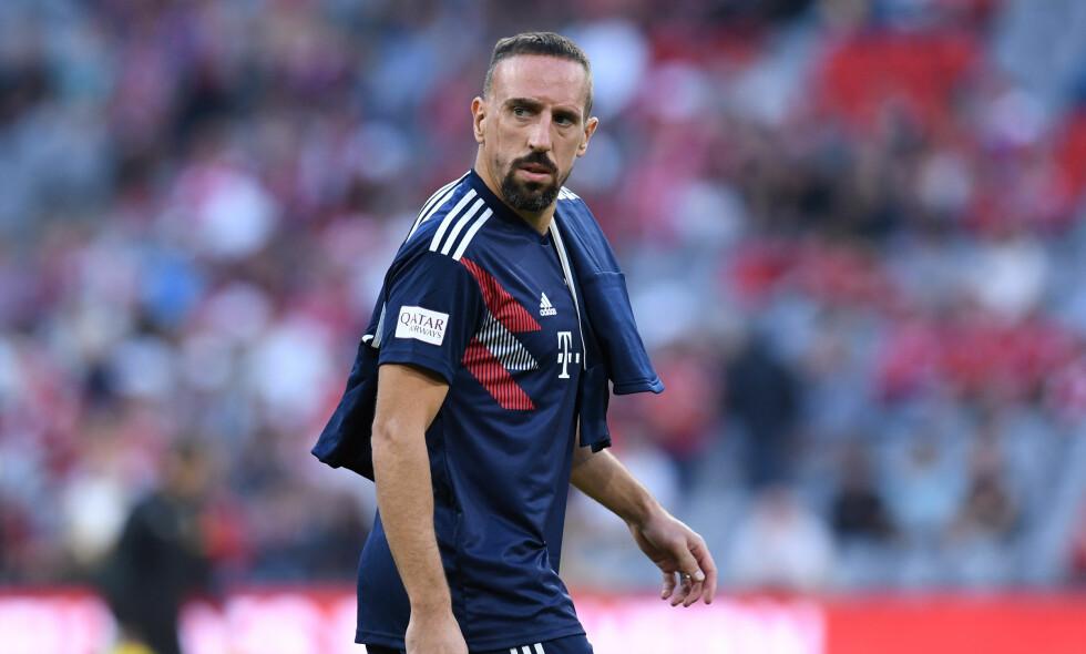 GIGANTBOT: Franck Ribery fikk svi etter en litt heftig Instagram-post. Foto: Christof STACHE / AFP
